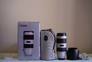 Canon 70-200 F2.8 L II USM like new in box + B+W UV filter