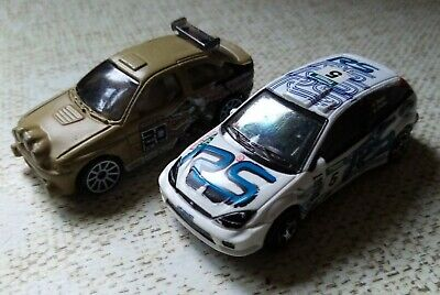 Job Lot x 2 Ford Escort RS Focus Rally Diecast Cars Matchbox Hot Wheels Mattel