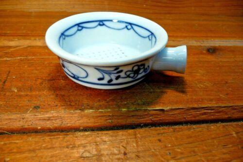 Vintage Porcelain Tea Strainer White & Ink Blue