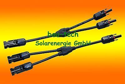1 Paar MC4 Y Stecker Verteiler Buchse für Solarpanel, Solarkabel ()