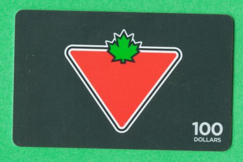 Canadian Tire Money - Depleted empty  Gift Card CT logo 100 collector value only