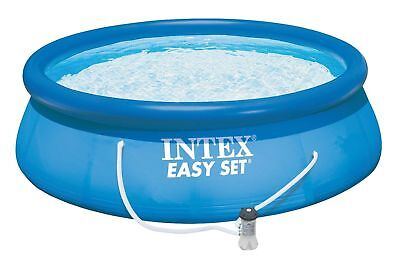 "Intex 13' x 33"" Easy Set Swimming Pool with 530 GFCI GPH Filter Pump 28141EH"