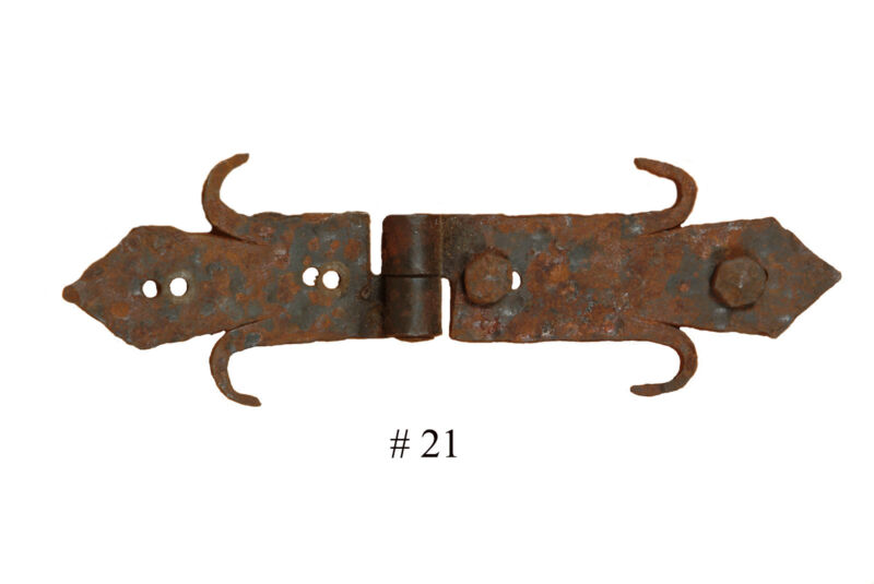 Rustic Door Hardware- Iron Hinge #21-Mexican-Iron-Hand Hammered-Accents-Clavos