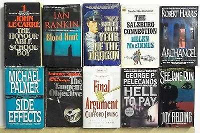 10 books POPULAR NOVELS BEST SELLERS Adventure Suspense Lot #A539 Free US S/H