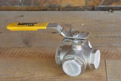 Sharpe 1-12 Npt 3-way Ball Valve Stainless Steel Series 76