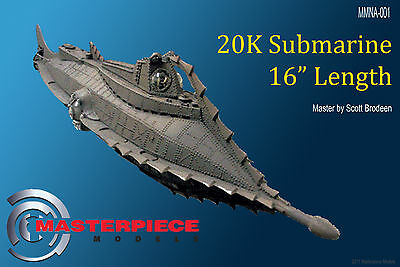 16 inch long, 20K Submarine the NAUTILUS  Resin Assembly kit