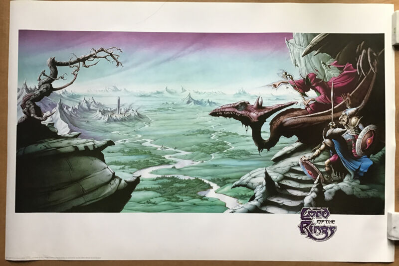 Rodney Matthews Lord Of The Rings Fantasy Poster