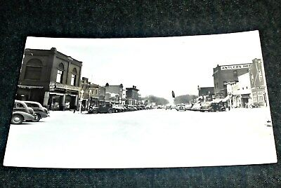RPPC - Main Street, Spirit Lake, Iowa Vintage Postcard