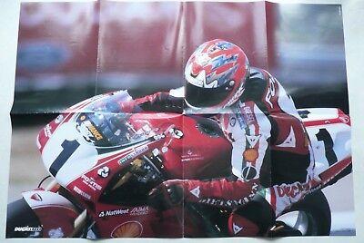 Ducati 2000 Poster Superbike 996 Carl Fogarty Laguna Seca 1999 mit techn. Daten