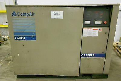 Leroi Screw Compressor Model Cl50ss 50 Hp 125 Psi 460v 3 Phase 18139lr