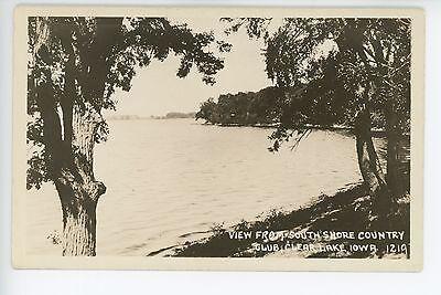 South Shore Country Club CLEAR LAKE IOWA Vintage RPPC Photo