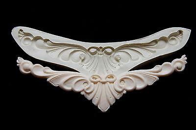 Sugarcraft mould silicone fondant molds, Clay,chocolate - Cake Ribbon Molding#7