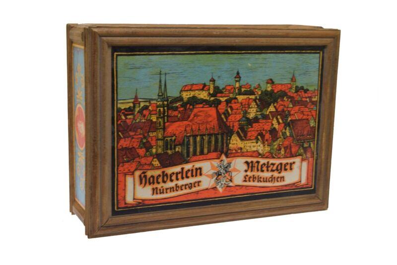Wood Box Albrecht Durer Haeberlein Nurnberger Metzger Lebkuchen Cookies 1960