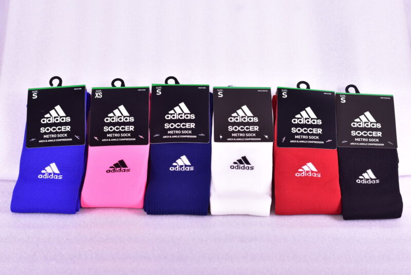 Youth Adidas Metro IV Knee High Soccer Socks - Choose Color & Size