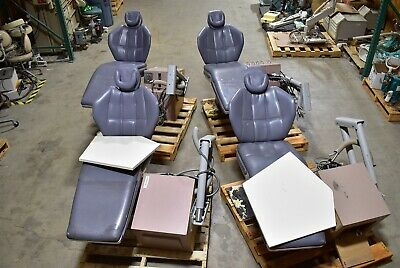 Lot Of 4 Blue-gray Dexta Dental Exam Chairs W Side Delivery System Units