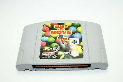 BUST-A-MOVE 3 DX NINTENDO 64 N64 Video Game Cartridge ONLY PAL (FREEPOST)
