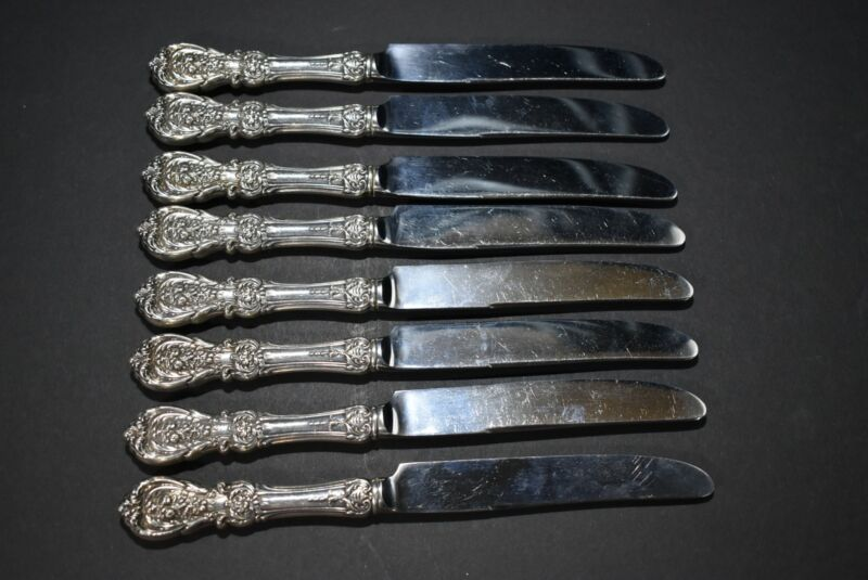 Sterling Silver REED & BARTON Francis the 1st Set of 8 Knives