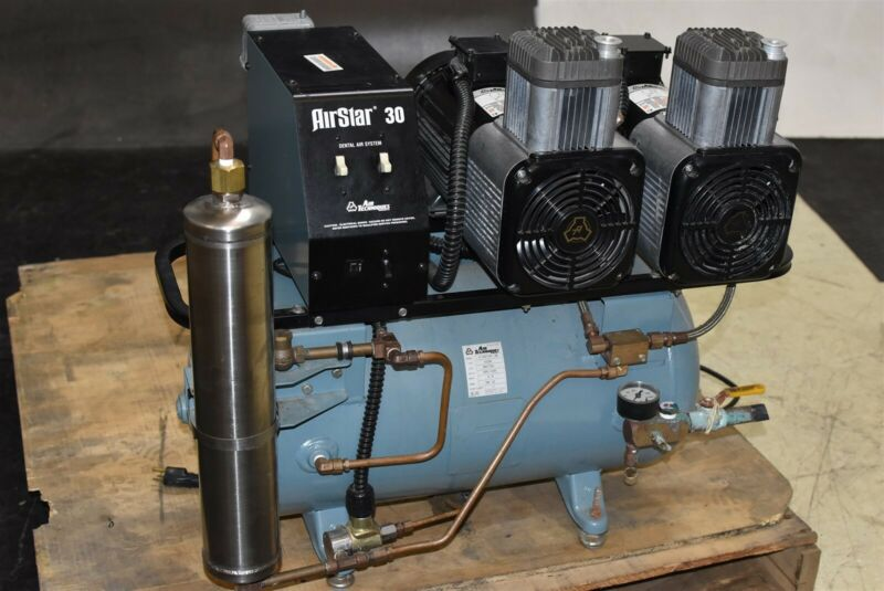Air Techniques Airstar 30 Dental Air Compressor Unit Oil-Free 1.5 HP 220V
