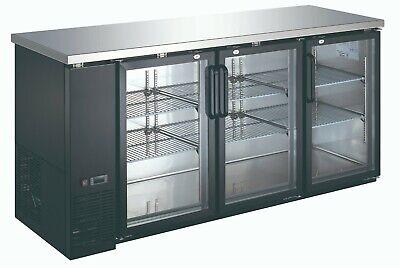 Back Bar Cooler Commercial Grade 24 Depth Refrigerator 3 Door Beerdrink Cooler