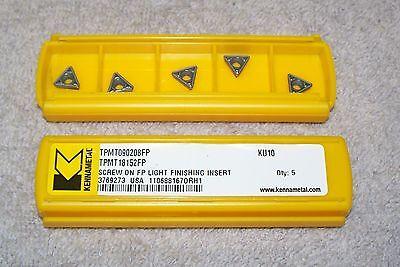 Kennametal  Carbide Inserts  Tpmt 090208-fp  Grade Ku10 Pack Of 5