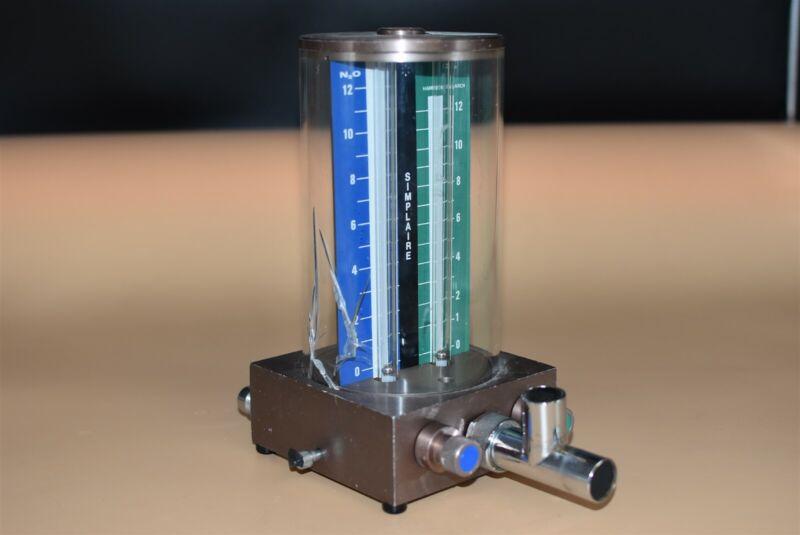Simplaire Flowmeter Dental Nitrous Unit For Flowmeter Conscious Sedation