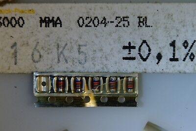 100pcs Resistor 16.5kohm Minimelf 25ppm 0.1 0.4w Mma0204-25bl 16k5 Beyschlag