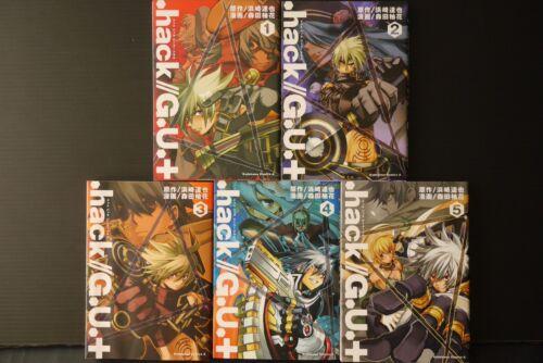 JAPAN Manga LOT .hack//G.U.+ vol.1~5 Complete Set