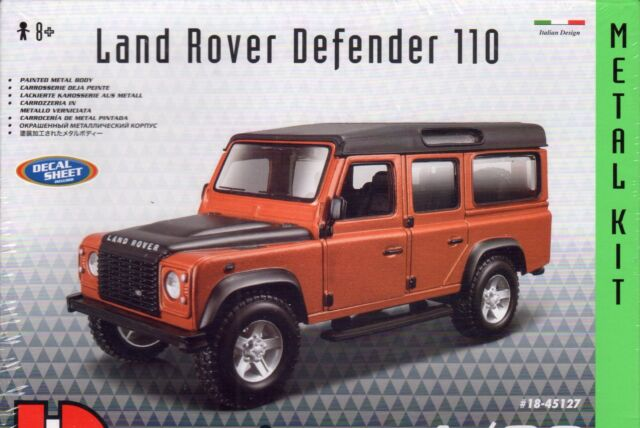 LAND ROVER DEFENDER 110 DIE-CAST METAL MODEL CAR KIT by BURAGO - SCALE 1:32