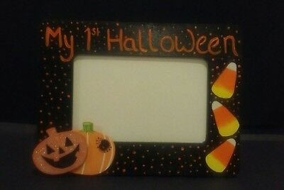 Hand Painted 4x6 Photo Frame My First Halloween
