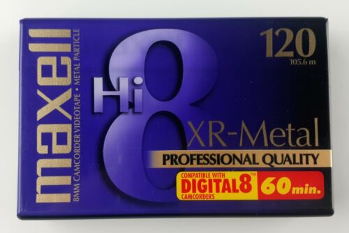 Maxell 8mm Camcorder Videotape Metal Particle Hi-8 XR-Metal 120min. Blank Tape