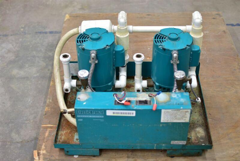 Adp Apollo Avb10Tn Dental Dual Vacuum Pump System Operatory Suction Unit