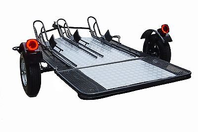Motorcycle Cargo Trailer - Single 2 Or 3 Rail Used For Harley Gold Wing Etc