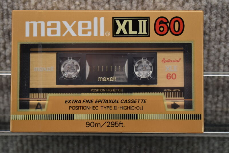 Sealed Maxell 60 min. XLII Type 2 High Bias Blank Cassette Tape
