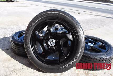 "16"" Honda Black Alloy Wheels with Tyres"