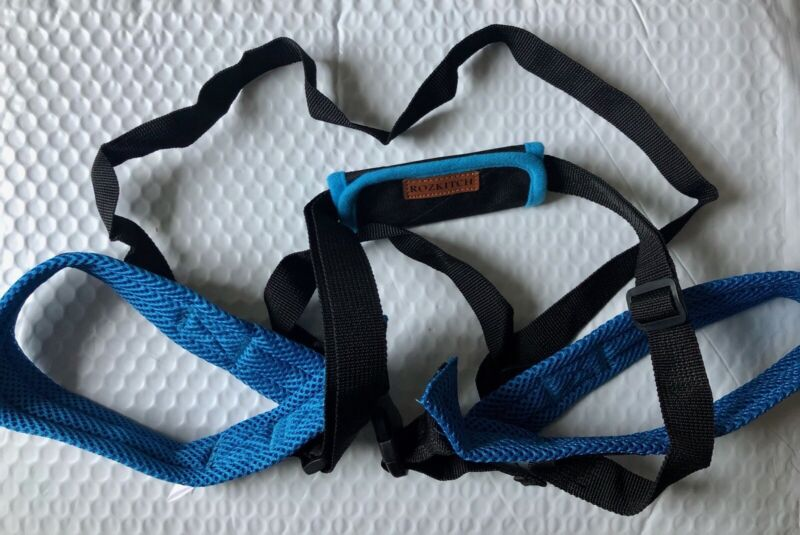 NEW Rozkitch Pet Dog Support Rear Lifting Mobility Harness Medium Blue/Black
