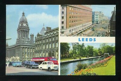 LEEDS  Multi View - Town Hall , Headrow , Canal Gardens  Coloured