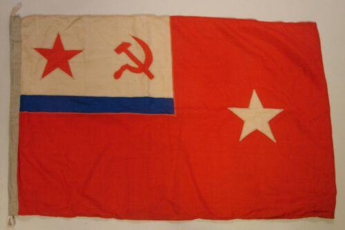 ORIGINAL Soviet Navy Flag ADMIRAL USSR Naval Formation Commander 1986 4x3'