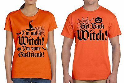 Halloween Couple Costumes T-shirts Boyfriend Girlfriend Shirts Funny - Funny Couple Costumes