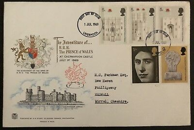 First Day Cover - The Investiture Of The H.R.H Prince Of Wales 1969