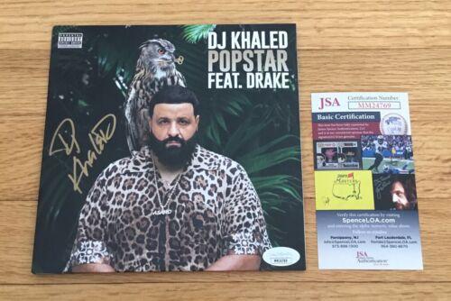 "DJ Khaled Songwriter Producer Signed Autograph POPSTAR 7"" Vinyl Record JSA COA"