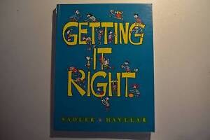 Getting It Right - Secondhand Textbook by Sadler and Hayllar Wareemba Canada Bay Area Preview