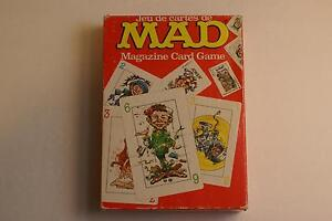 Mad Magazine Card Game - Circa 1979, Very Good Condition