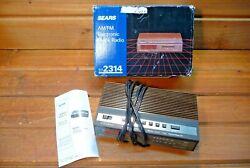 NOS Vintage Sears AM/FM Electronic Clock Radio Alarm Snooze No. 2314