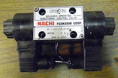 Nachi Solenoid Operated Directional Control Valve, SLD-G01-C6-C1-10, 110V, Used