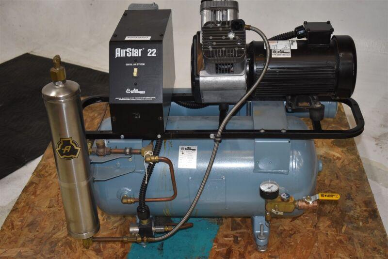Air Techniques AirStar 22 Dental Air Compressor REFURBISHED w/ 1 YEAR WARRANTY