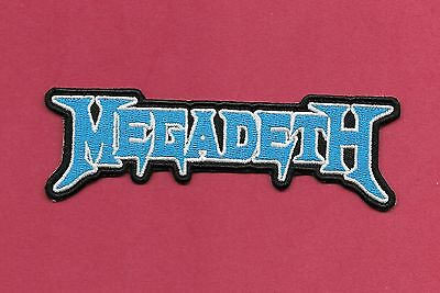 """New MEGADETH  'Blue'  1 1/4 X 4 1/2 """" Inch Iron on Patch Free Shipping"""