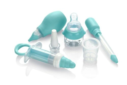 Nuby 6-Piece Baby Medical Kit - Medicine Dispensers - Nasal Aspirator - BPA Free