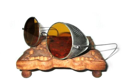 Antique Amber Willson Sunglasses Goggles Spectacles Retro Vtg Steampunk Glasses