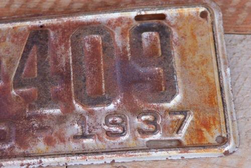 Idaho 1937 Original Condition License Plate 6A 409