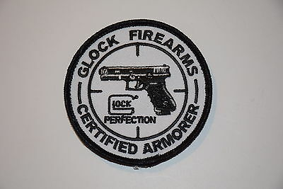 GLOCK CERTIFIED ARMORER LOGO PATCH 17 19 20 21 22 23 26 27 28 29 30 31 34 42 43!